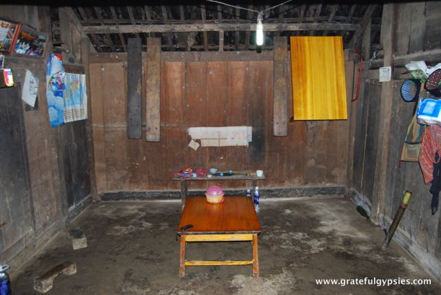 Living/dining room in the village house.