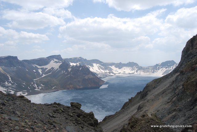 The Heavenly Lake at Changbai Mountain.