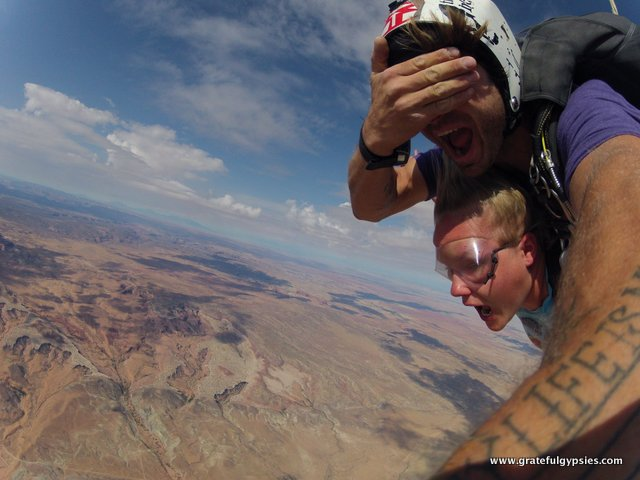 Skydiving is fun!