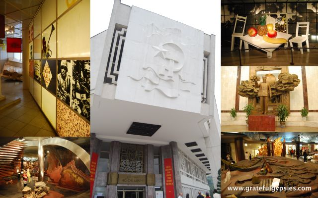 The strange and artsy Ho Chi Minh museum.