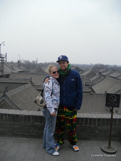 Hanging out on the old city wall in Pingyao.