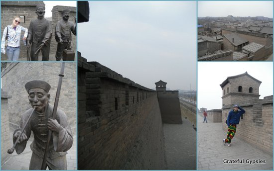 Strolling around yet another city wall in China.