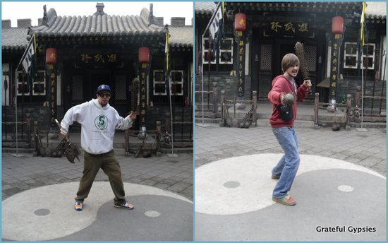 Goofing around in Pingyao.