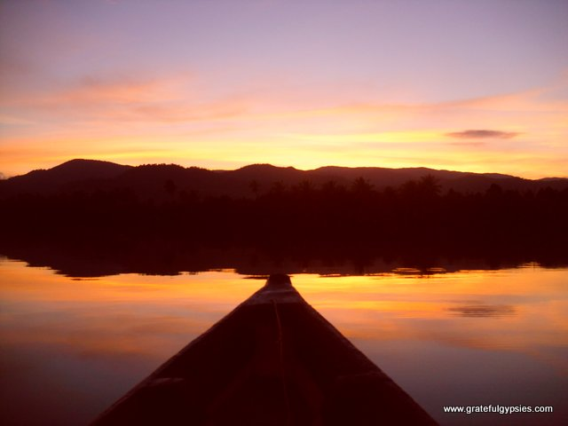 Sunset on the Kampot River.