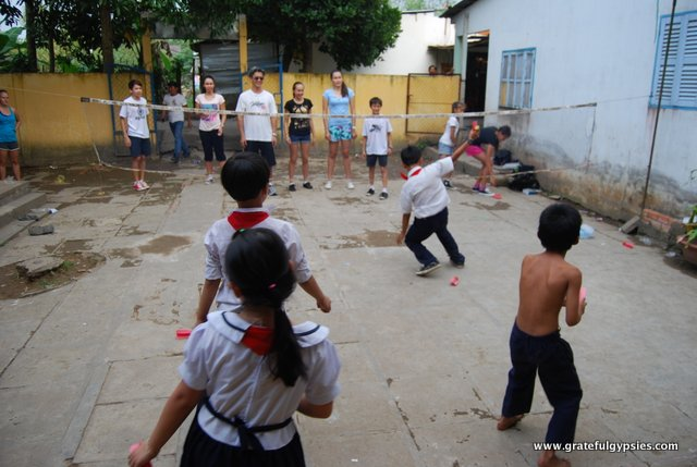 After school games with the local kids.