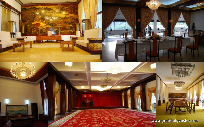 Some of the many fancy rooms inside.