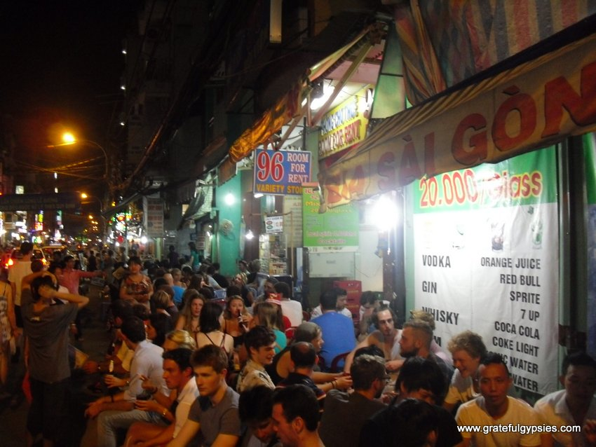 Pull up a chair and party down on the backpacker street.