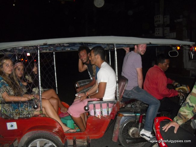 Traveling tuk-tuk party.