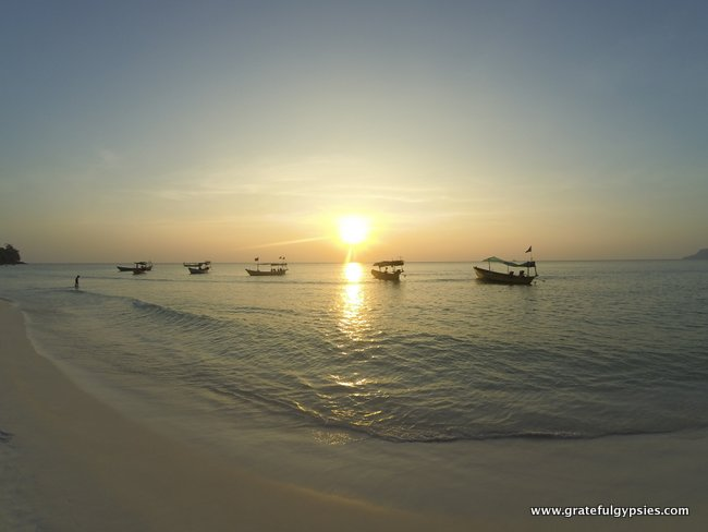 Amazing sunset on Koh Rong.