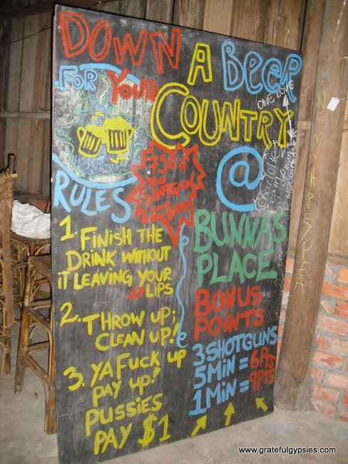 A great sign in a bar on Koh Rong.