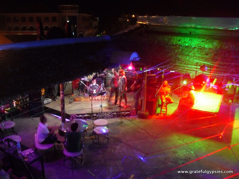 Watching a band from the top of X Bar.