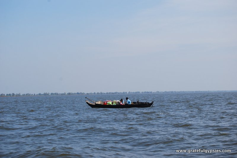 Vendors floating out on Tonle Sap.