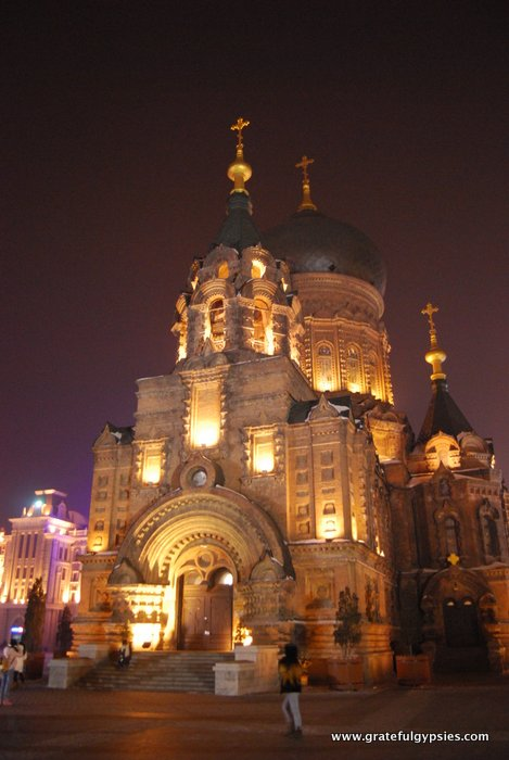 The beautiful St. Sophia cathedral in the center of the city.