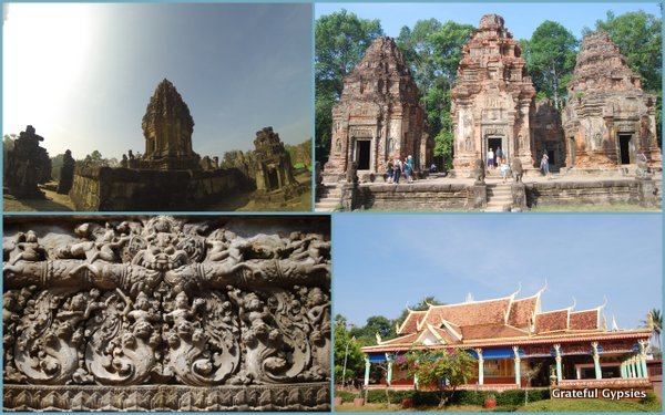 Some scenes of the Preah Ko temple.