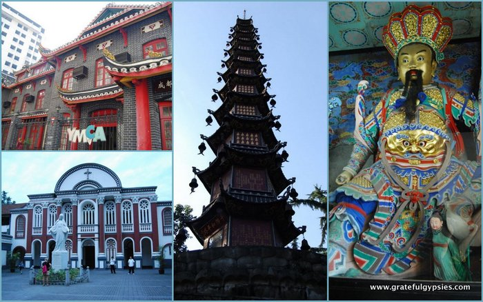 Christianity and Buddhism are alive and well in Chengdu.