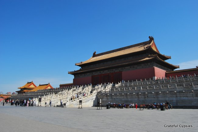 The massive Forbidden City.