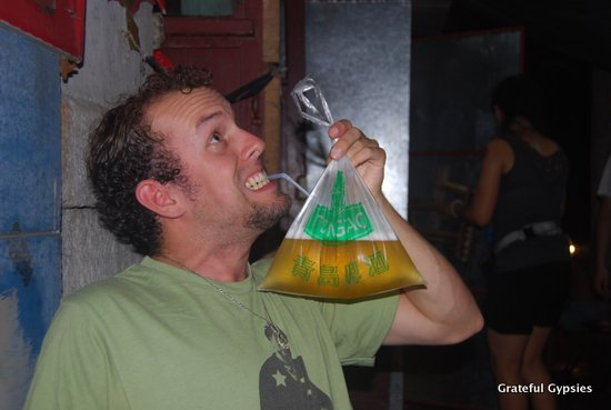 Beer in a bag! What a concept!