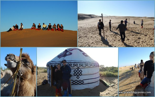 In the desert of Inner Mongolia.