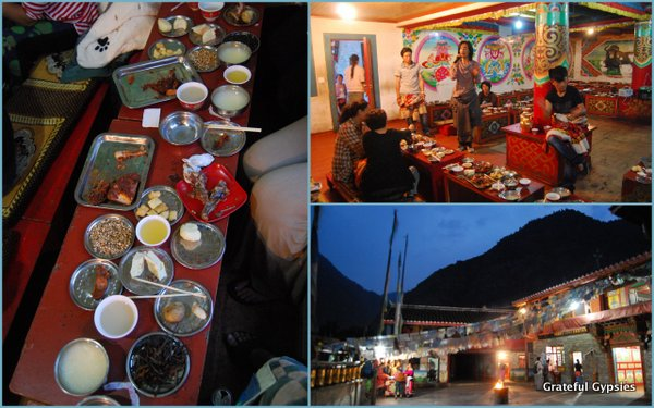A Tibetan style dinner party.