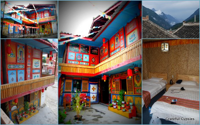 The Tibetan guesthouse near Jiuhzhaigou.