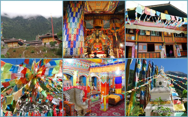 Some scenes from the Tibetan villages in the park.