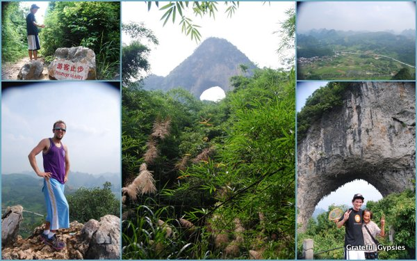 The funky Moon Hill of Yangshuo.