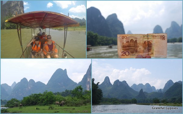 Cruise up the Li River on a bamboo raft.