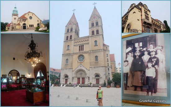 Churches and the former Governor's Mansion.