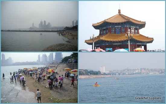 The Zhan Qiao pier, made famous by the Tsingtao beer label.