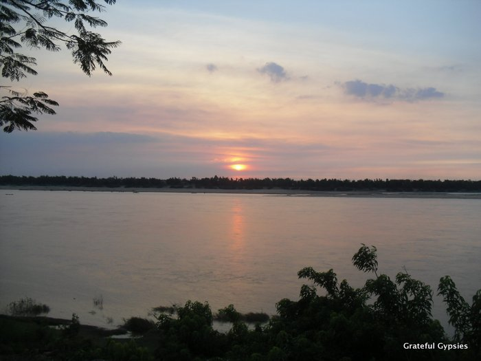 Our last sunset in Cambodia.