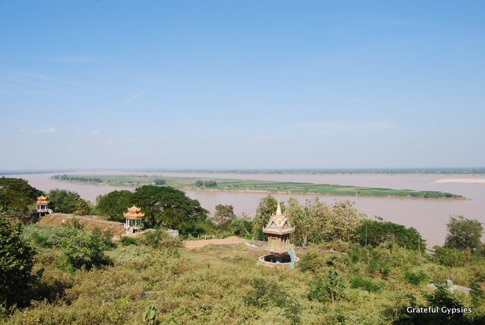 High above the Mekong in Kampong Cham.