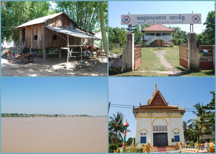 Scenes from a Cambodian island village.