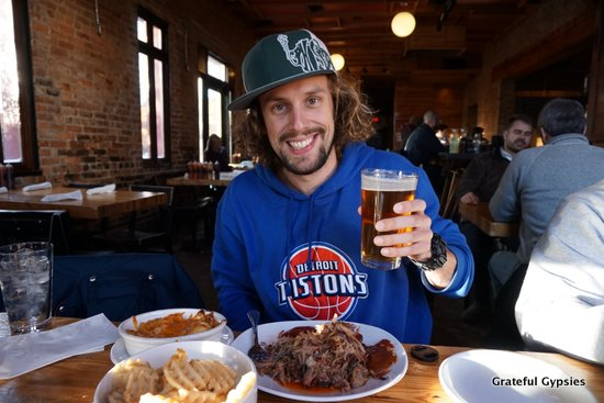 Detroit sports, BBQ, and beer - three things I miss every day.