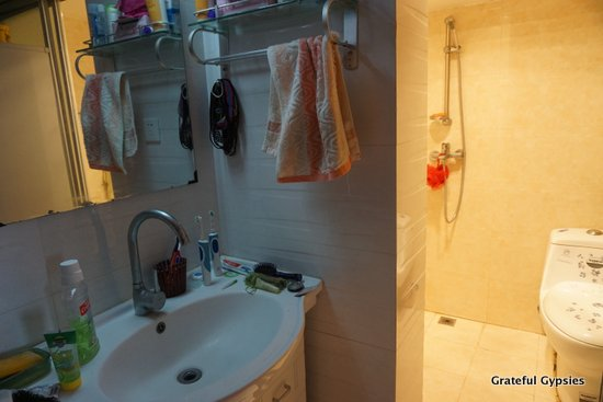 A typical Chinese bathroom.
