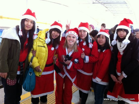 A few of my students who joined in for Santacon.