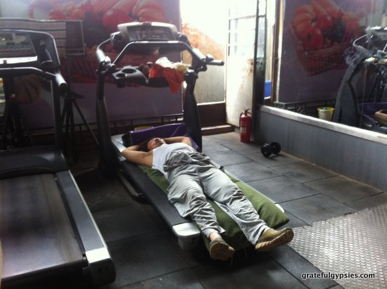 Get a serious workout in a Chinese gym.