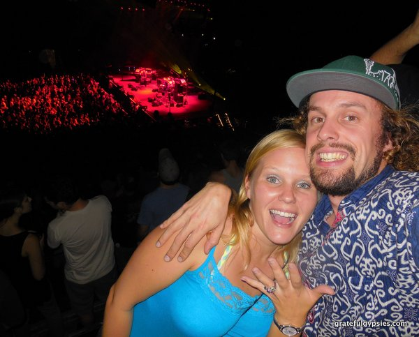 Yeah, we got engaged at a Phish show.