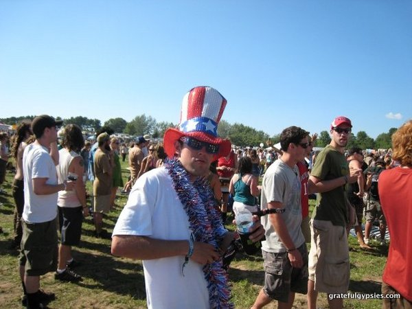 Captain America at the first ever Rothbury.