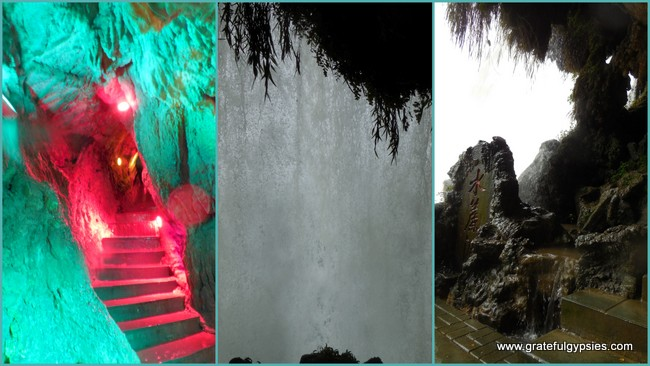 Scenes from behind the waterfall