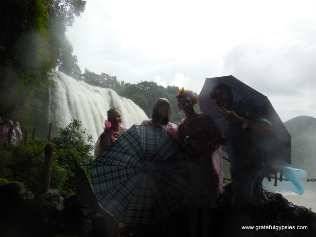 Ready to go behind the waterfall