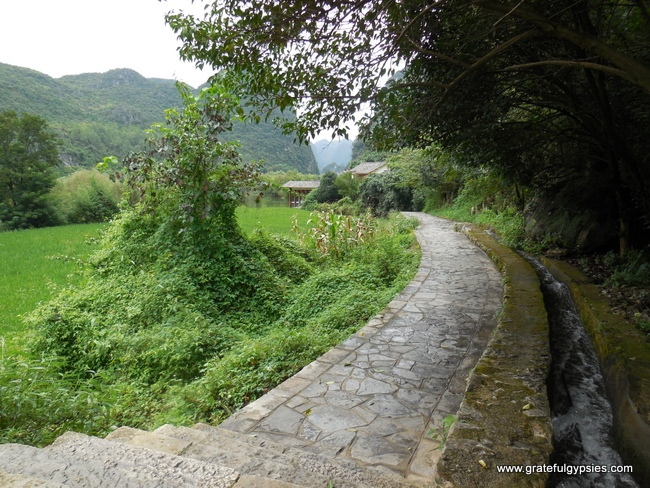 An empty path leading to stunning views