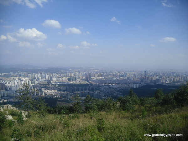 View of Kunming from the nearby Long Insect Mountain