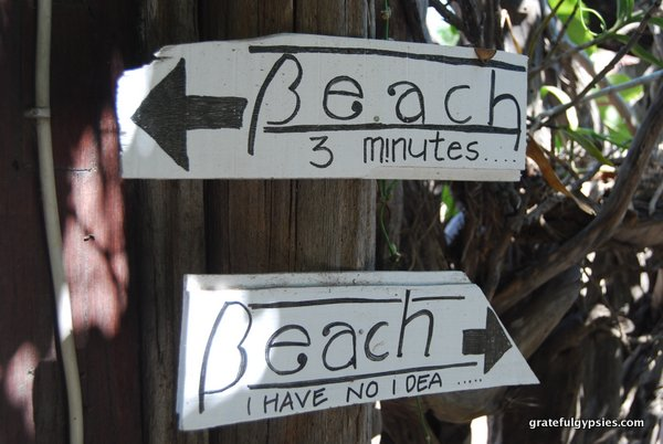 Great sign on Gili T.