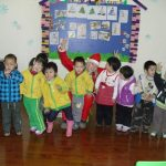 When you teach English in China, it's OK to dress up like Santa.