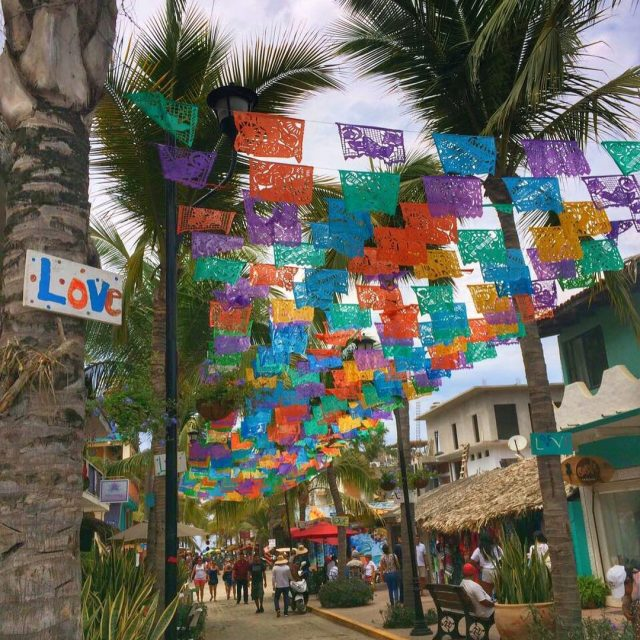 Spending the weekend in the colorful town of Sayulita Whereshellip