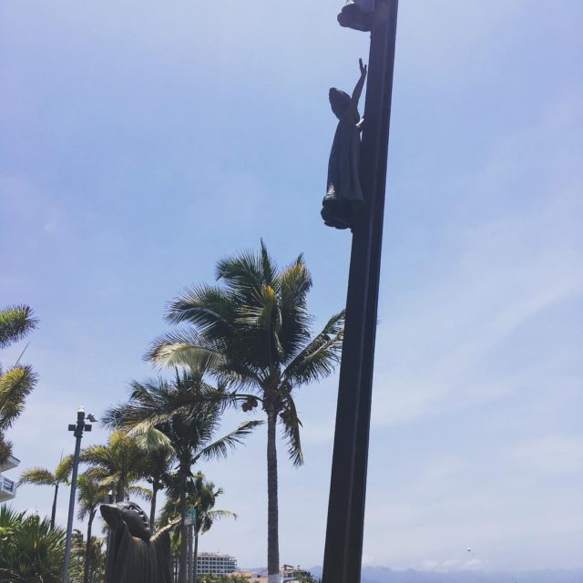 One of the many sculptures that dot the Malecon inhellip