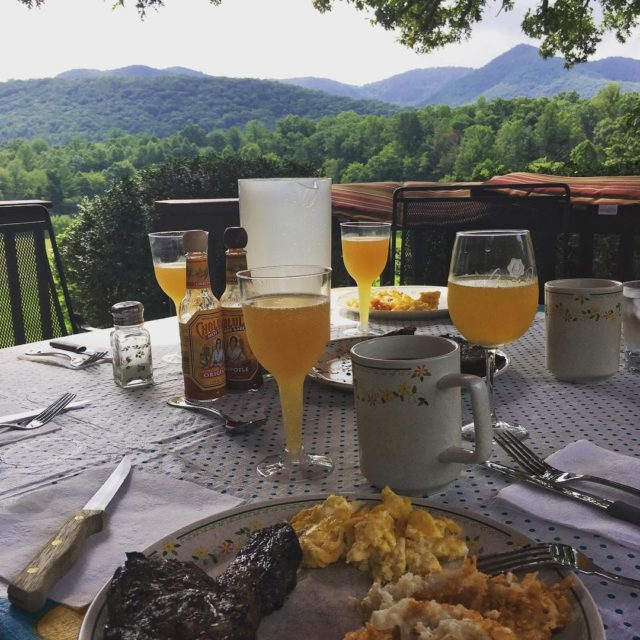 Steak and egg brunch with a view   hellip