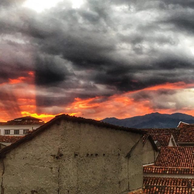 Sky on fire! We have been loving these sunsets fromhellip