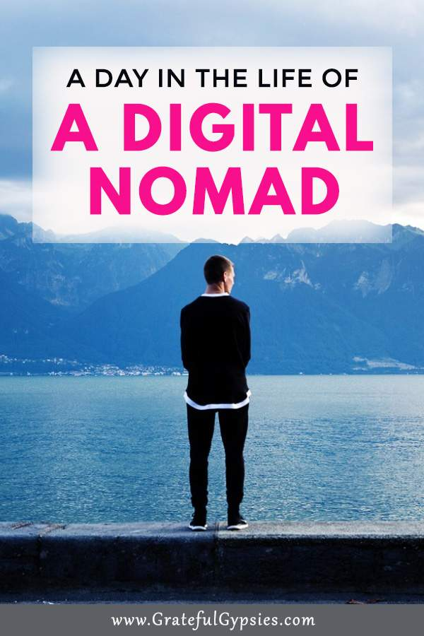 The digital nomad lifestyle is great but it's not all sunny beaches and cocktails. Being a digital nomad takes a lot of discipline and hard work. Learn how to balance life and work in this guest post about a day in the life of a digital nomad. #DigitalNomadLifestyle #DigitalNomads #RemoteWork #LifestyleBusiness
