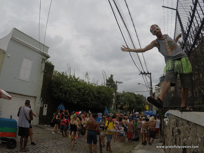 Carnaval in Brazil block party